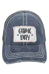 """Game Day"" Patch Navy Mesh Back Baseball Cap"