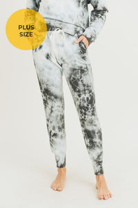 Plus Size Cloud Tie-Dye Jacquard Terry Jogger