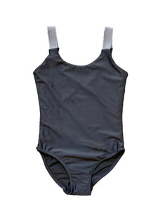 Cheryl Kids One Piece Bathing Suit with Silver Straps