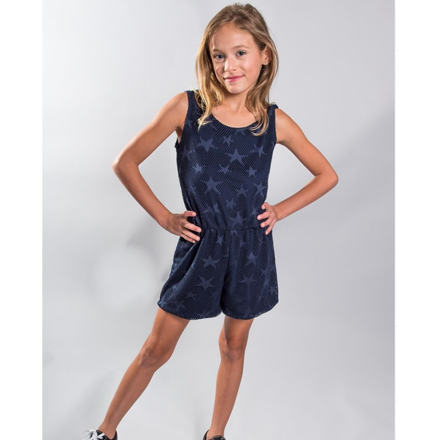 Cheryl Kids Navy Star Romper