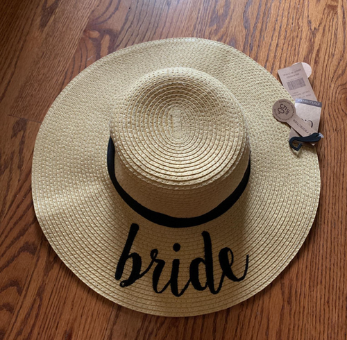 Bride Natural Color Paper Wide Brim Hat