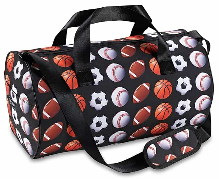 Sports Print Duffle Bag