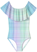 Load image into Gallery viewer, Gingham Draped Bathing Suit