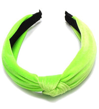 Load image into Gallery viewer, Neon Velvet Knot Headbands