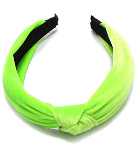 Neon Velvet Knot Headbands
