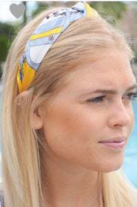 Silk Top Knot Headband Yellow