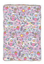 "Load image into Gallery viewer, Unicorn Coutoure Version 2 Fuzzy Sleep Sack-25"" x 60"""