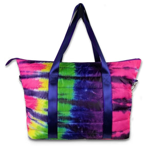 Tie Dye Puffer Tote Weekender (ships end of August)