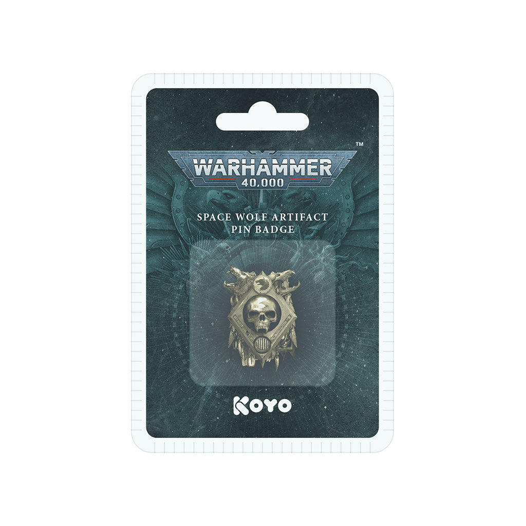 Warhammer 40,000 Space Wolf 3D Artifact Pin