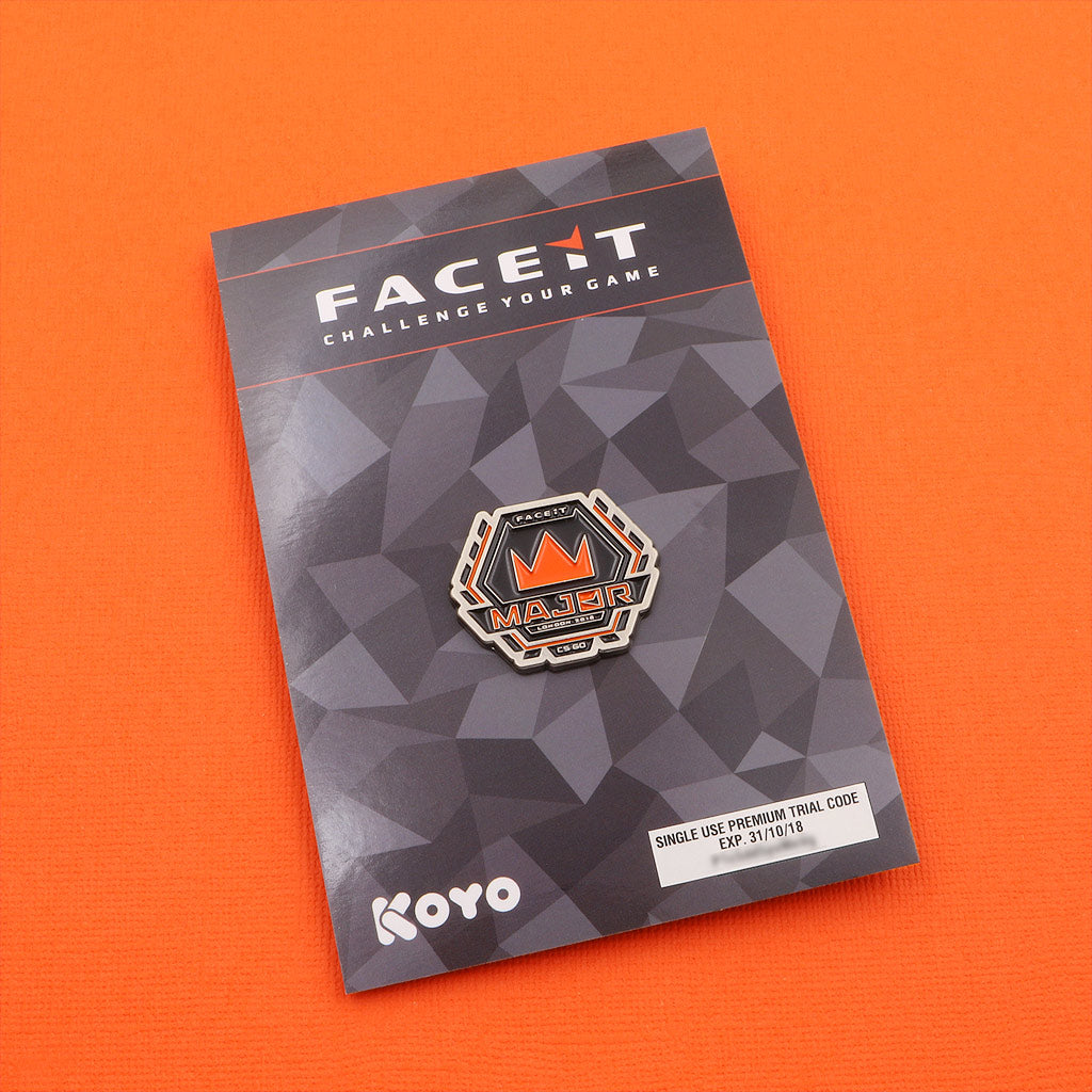 Official FACEIT Major 2018 Pin - The Koyo Store