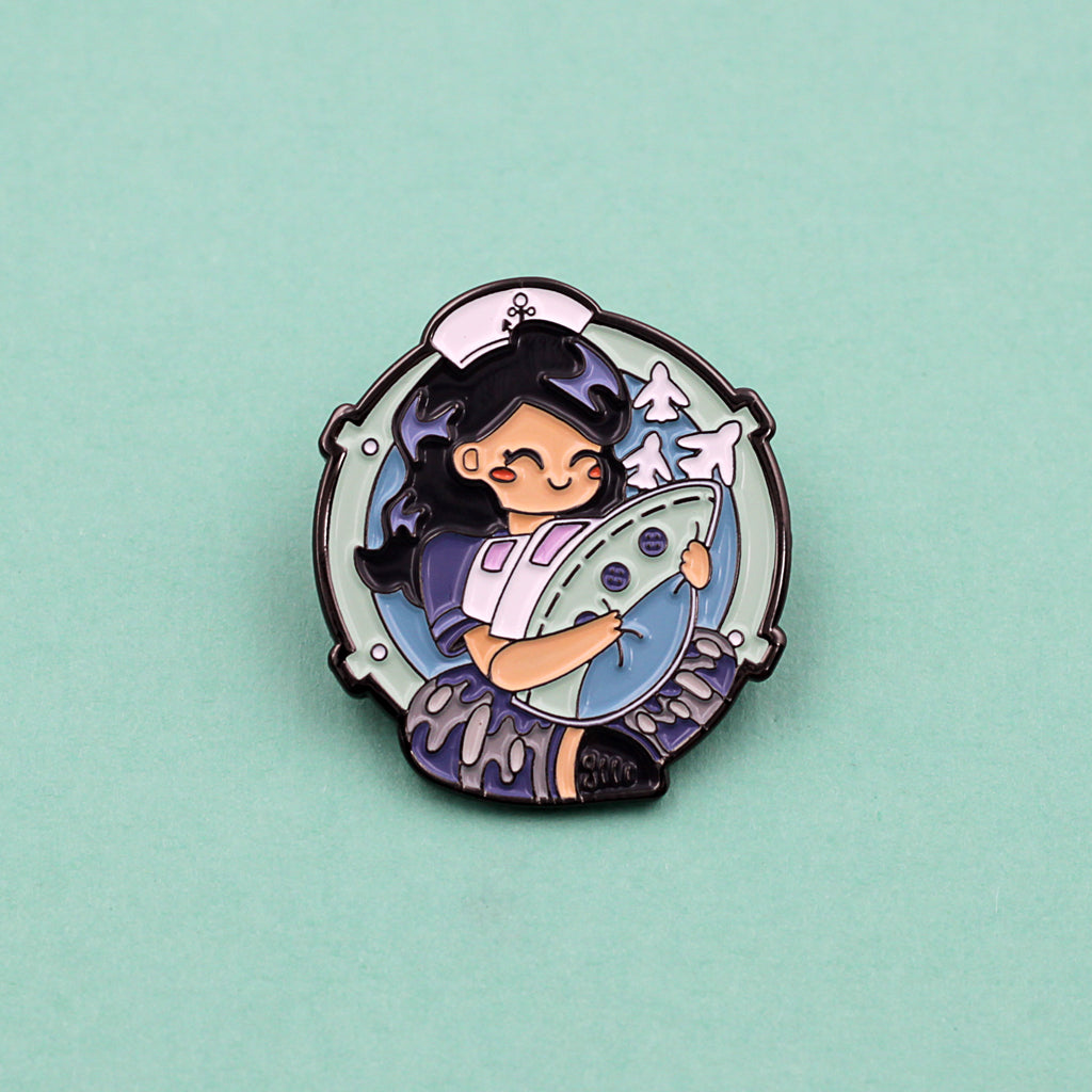 Femennenly 'Cuddle The Carrier' Logo Pin - The Koyo Store