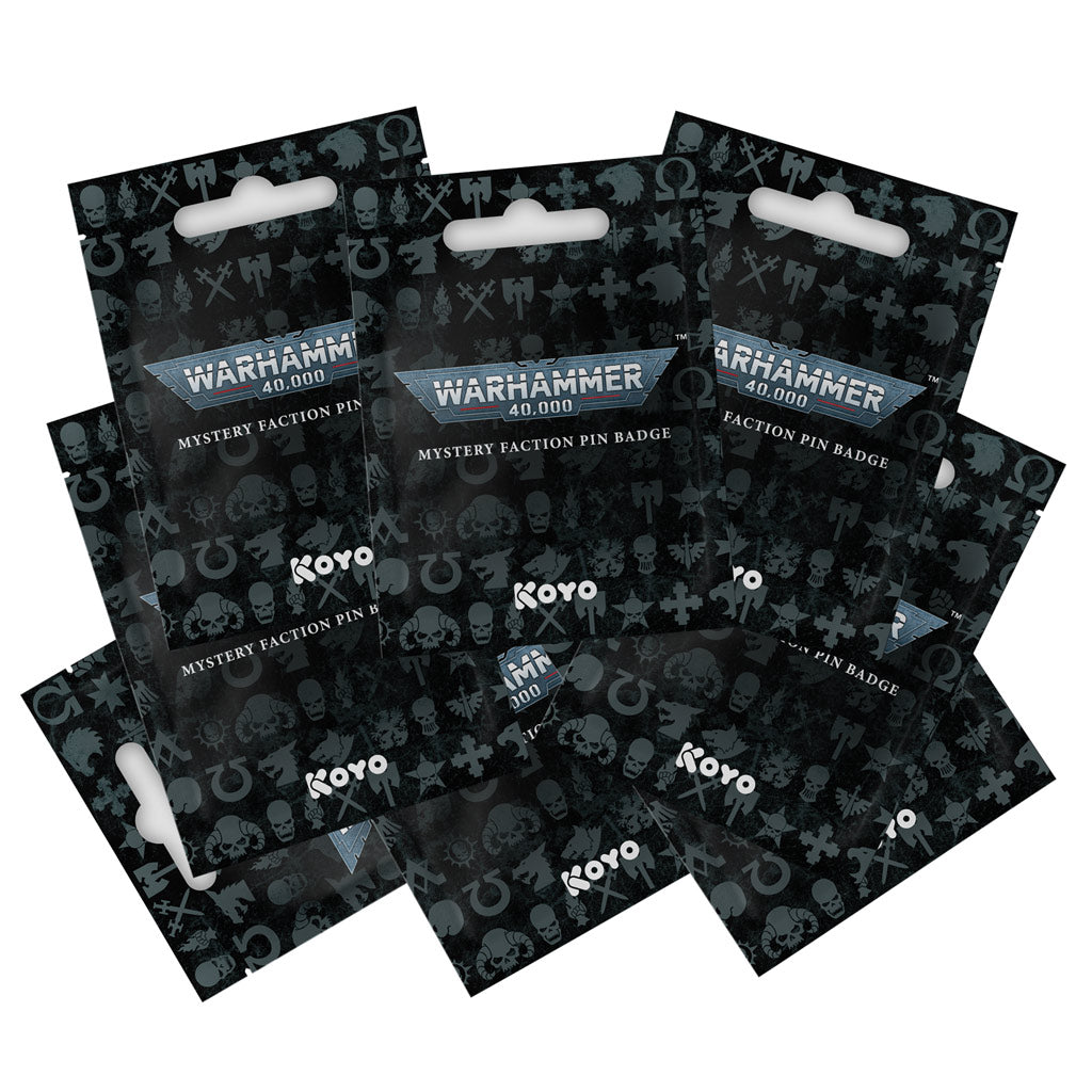 Warhammer 40,000 Mystery Faction Pins (12 PACK)