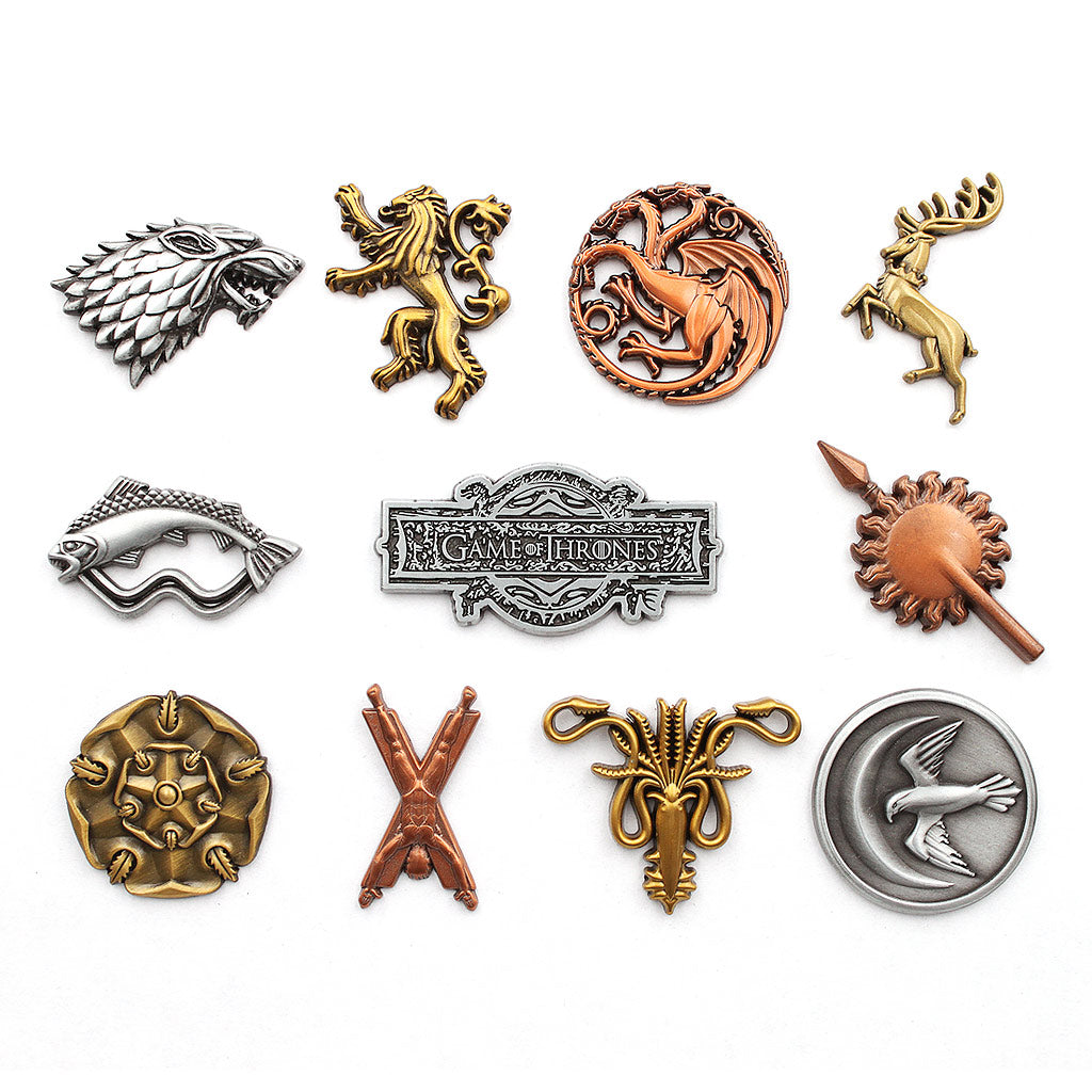Game of Thrones 11 House Pin Set - The Koyo Store