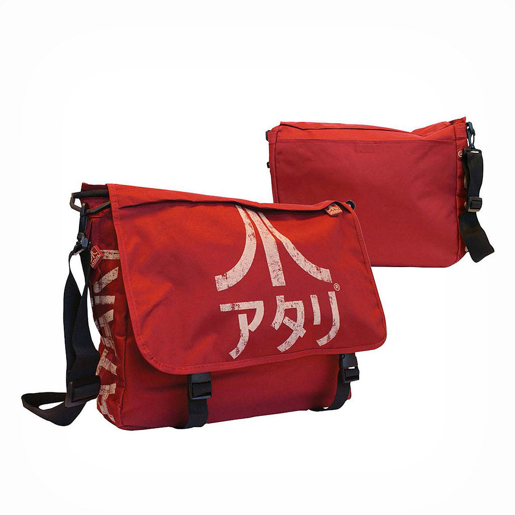 Official Atari - Japanese Logo Red Messenger Bag - The Koyo Store