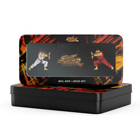 Street Fighter Ryu, Ken & Gold Logo Set - The Koyo Store