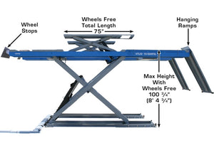 Atlas 12AWFSL - 12,000 lb. Capacity Alignment Scissor Lift (Wheels-Free System)