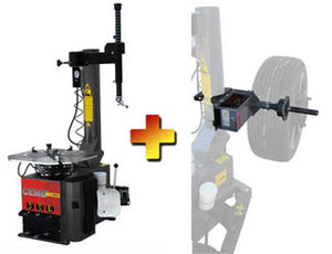 CEMB SM825EVO / SM825EVOAIR - Swing Arm Tire Changer & EZ1 Digital Wheel Balancer (Combo)
