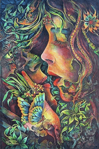 Psychedelic Woman Butterfly