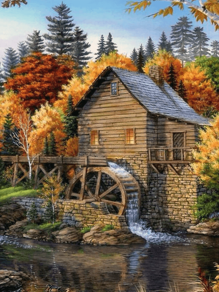 House and Water Wheel