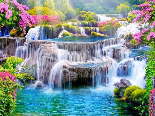 GARDEN OF LARGE WATERFALLS
