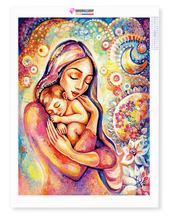 Load image into Gallery viewer, Mother and Child - Diamond Painting FULL