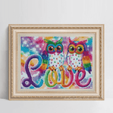 Diamond Painting Cute Couple Owls