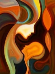 Abstract Mother and Child