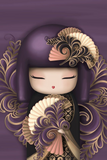 Cartoon Japanese Girl Purple