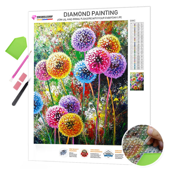 Diamond Painting Dandelion Mosaic