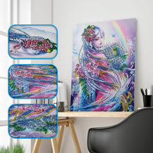 Load image into Gallery viewer, Special Shaped Diamond Painting - Lady and Rainbow