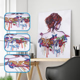 Special Shaped Diamond Painting - Lady and Butterfly