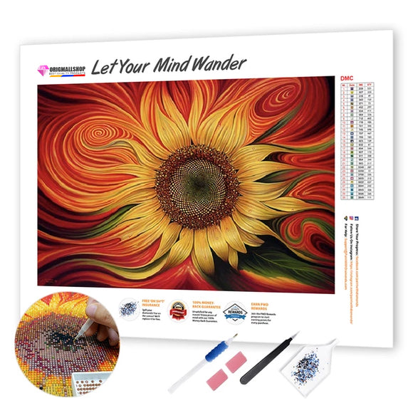 Diamond Painting - Beautiful Sunflower