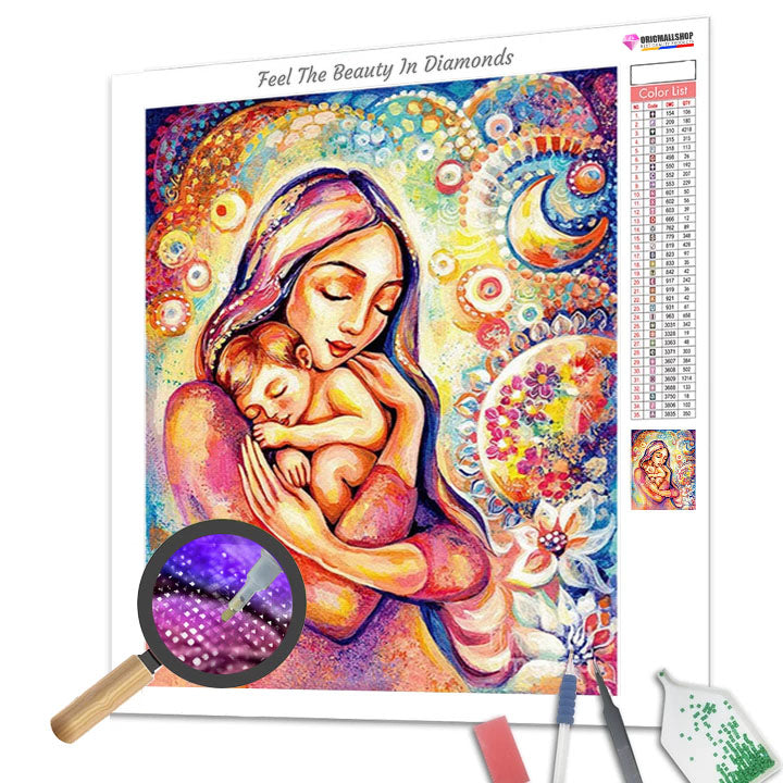 Mother and Child - Diamond Painting FULL