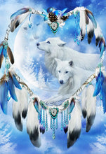 Load image into Gallery viewer, White Wolf Dreamcatcher