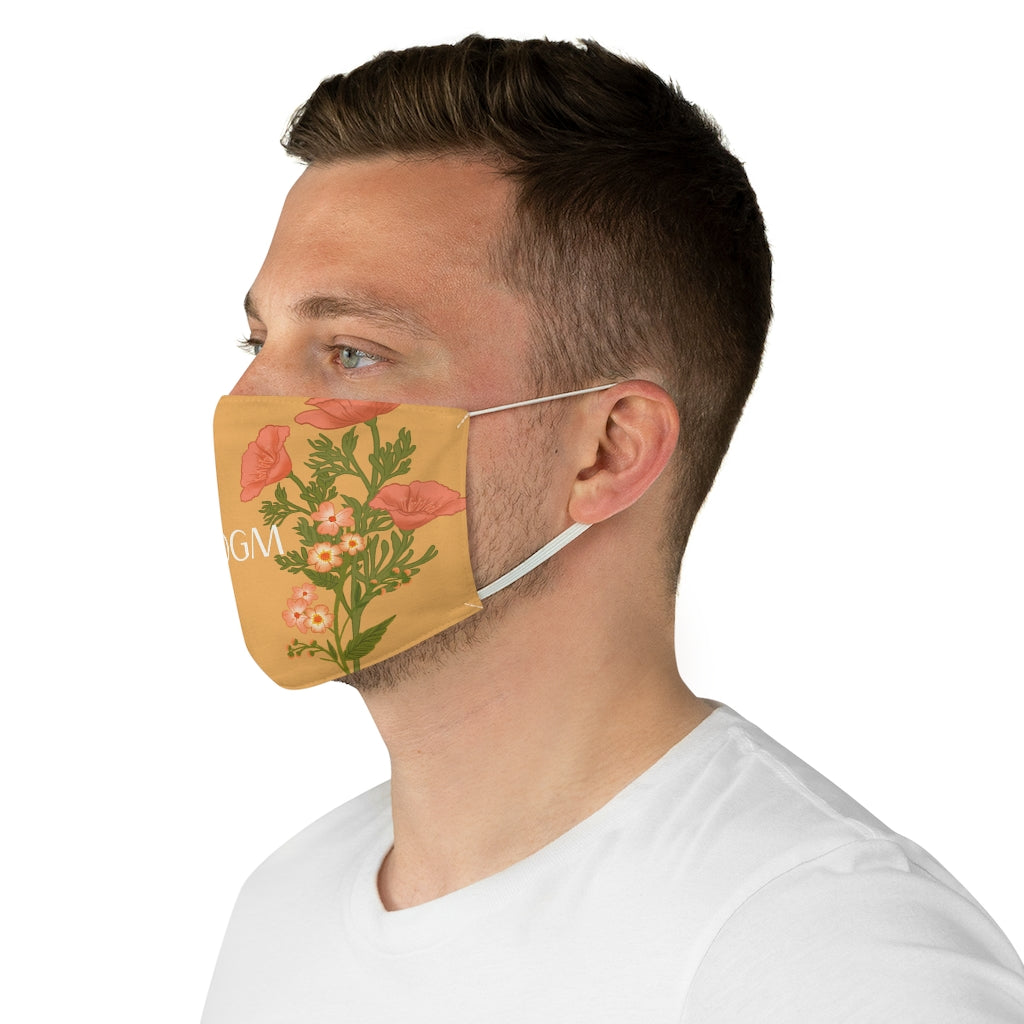 SSDGM My Favorite Murder California Poppies Jersey Knit Face Mask