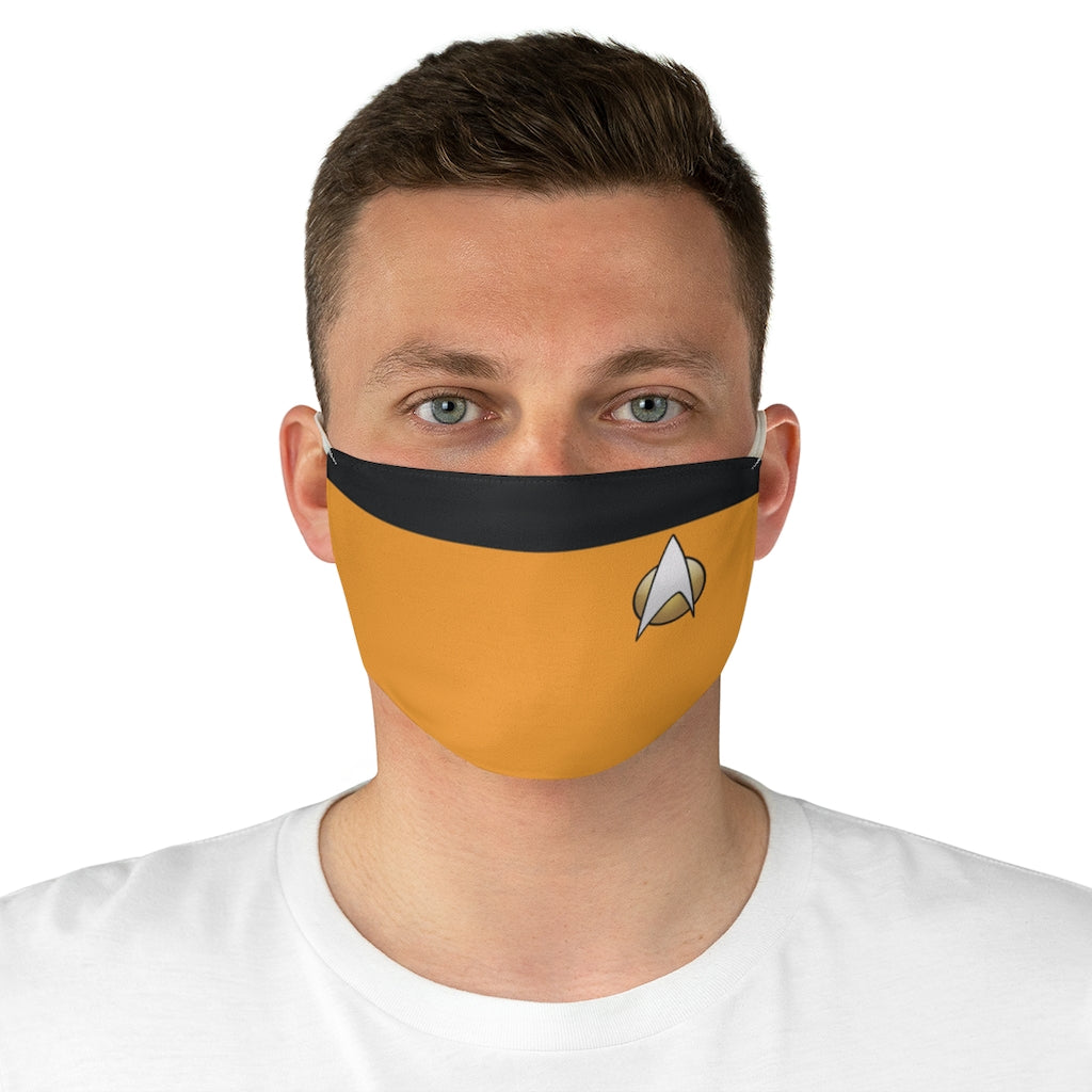 Star Trek TNG Operations Style Jersey Knit Face Mask