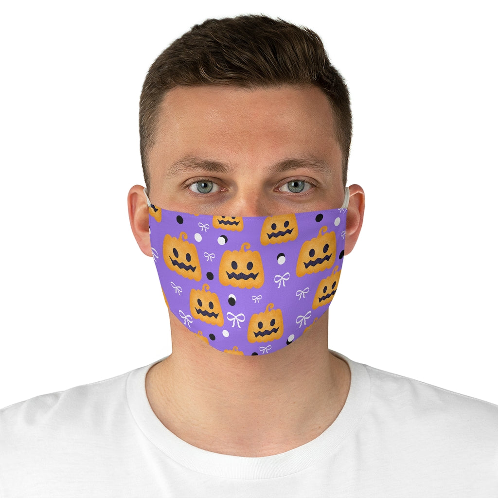 Pretty Pumpkin Halloween Jersey Knit Face Mask