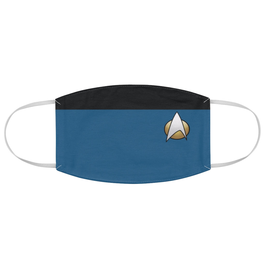 Star Trek TNG Sciences Style Jersey Knit Face Mask