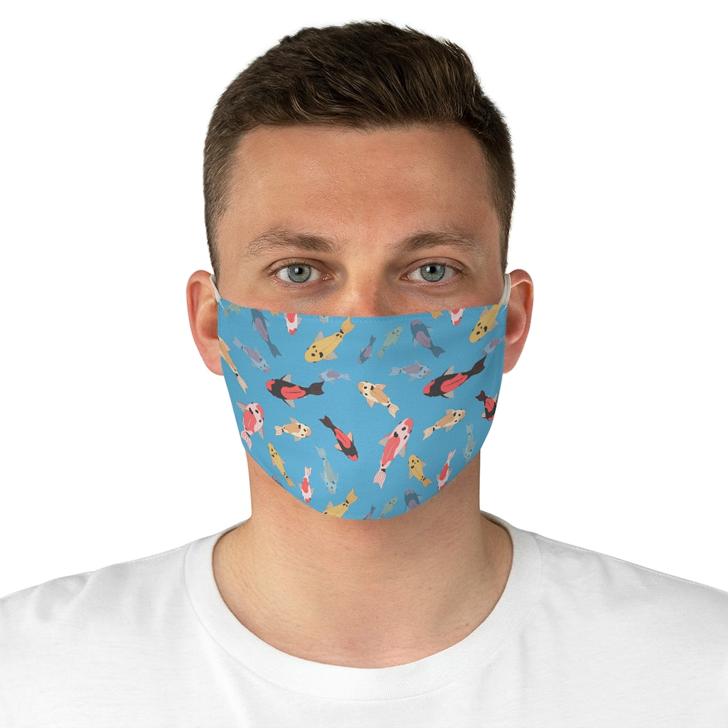 Koi Pond Jersey Knit Face Mask