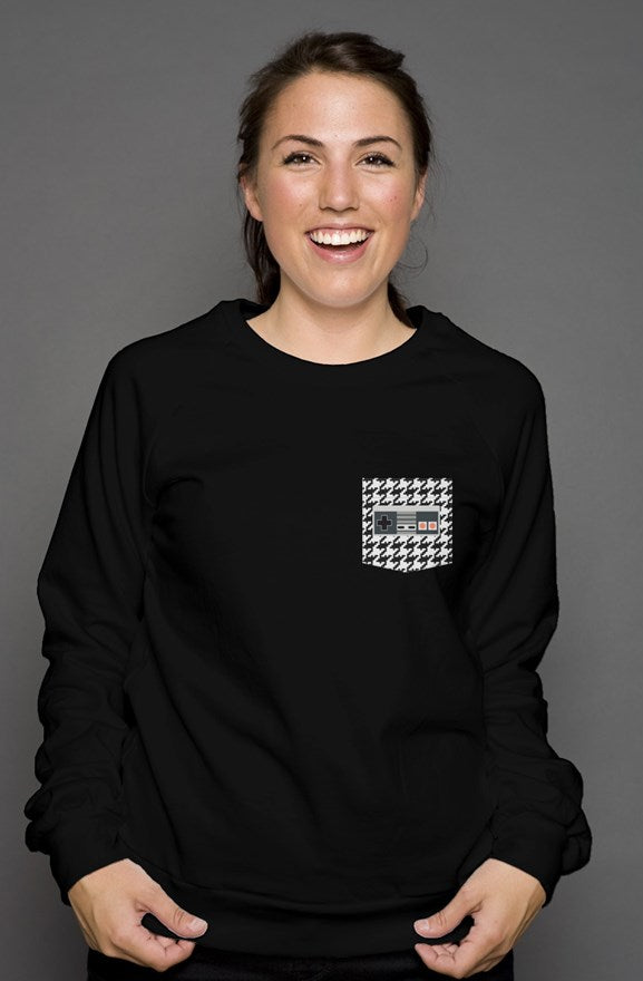 HouNESdstooth Sweatshirt Pixel Pocket