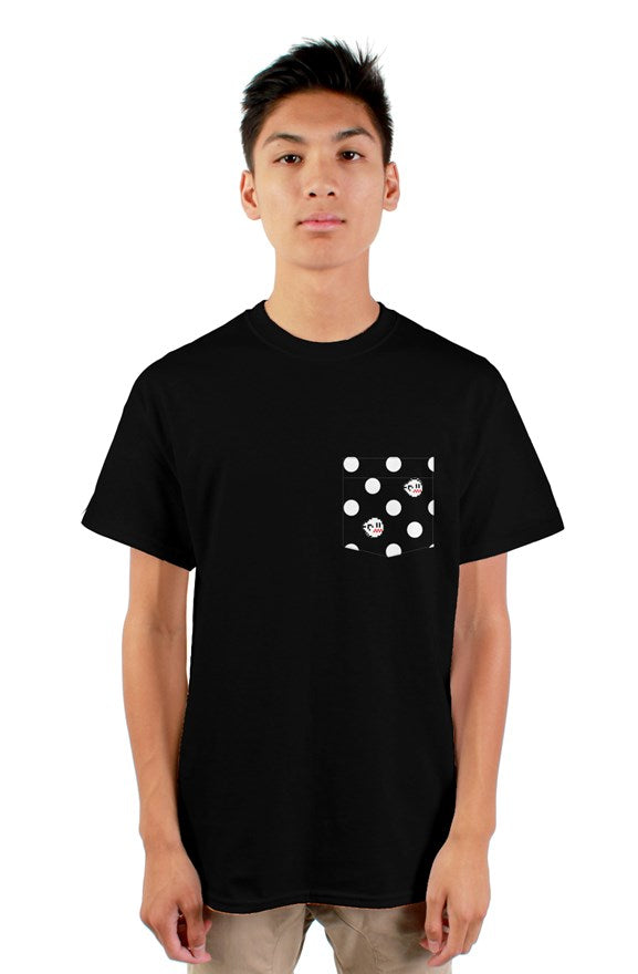 8 Bit Ghost Dot Pocket Tee