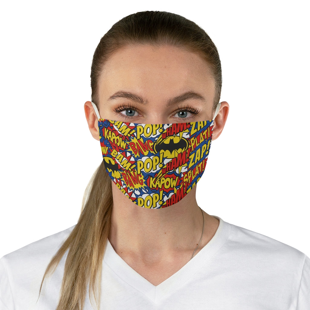 Batman Comic Book Jersey Knit Face Mask