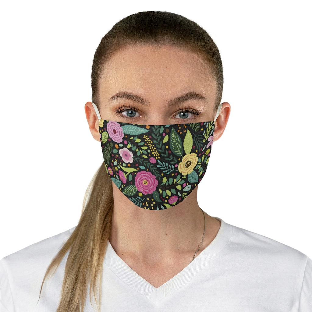 Fresh Floral Jersey Knit Face Mask