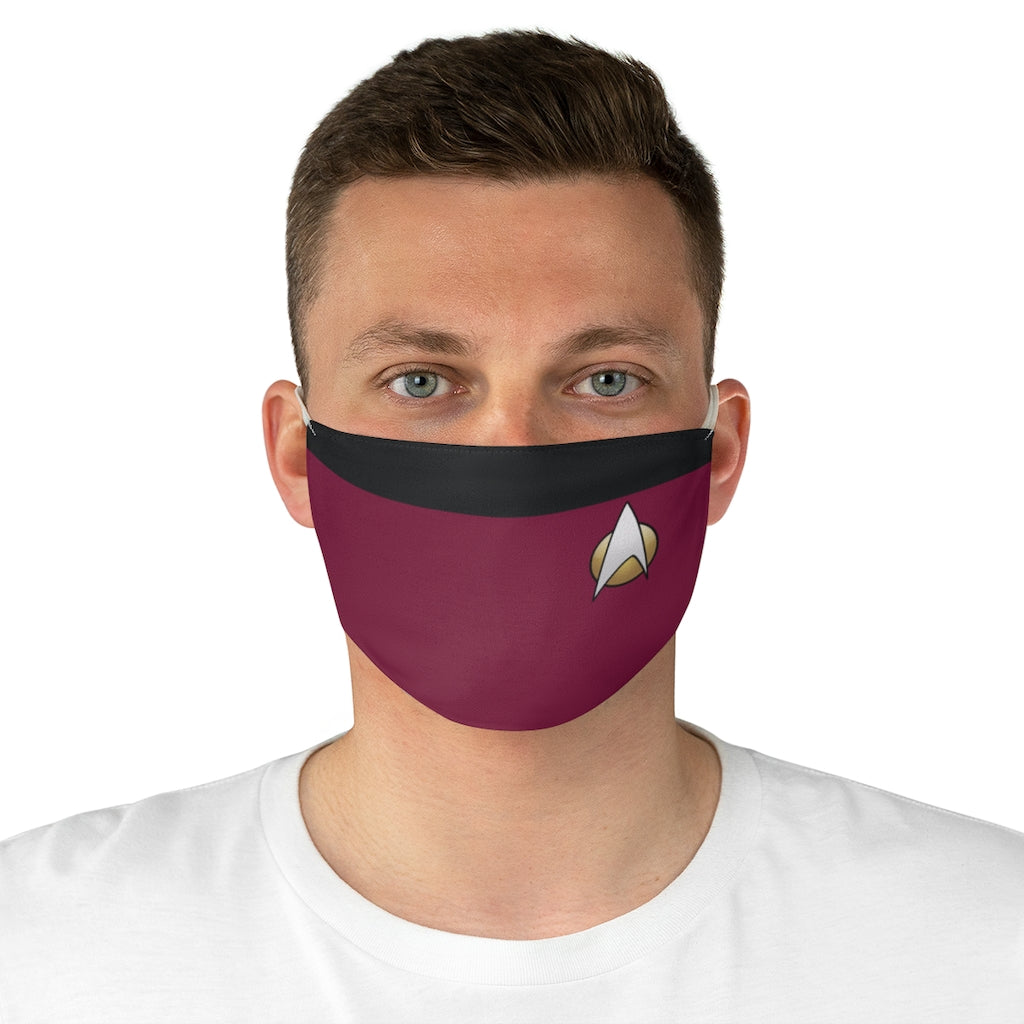 Star Trek TNG Command Style Jersey Knit Face Mask