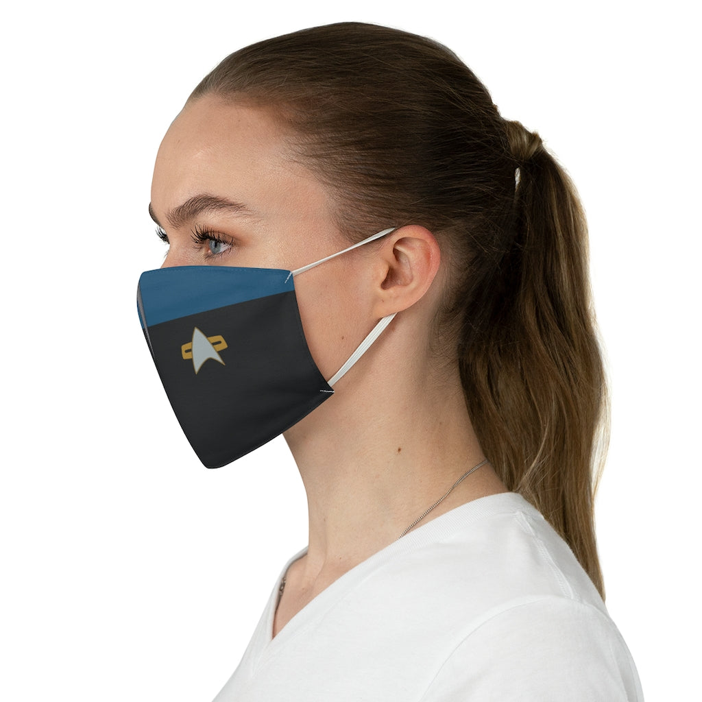 Star Trek Voyager Sciences Style Jersey Knit Face Mask