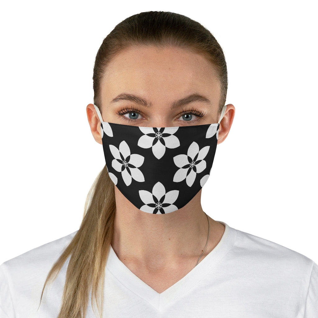 Floral Tile Jersey Knit Face Mask