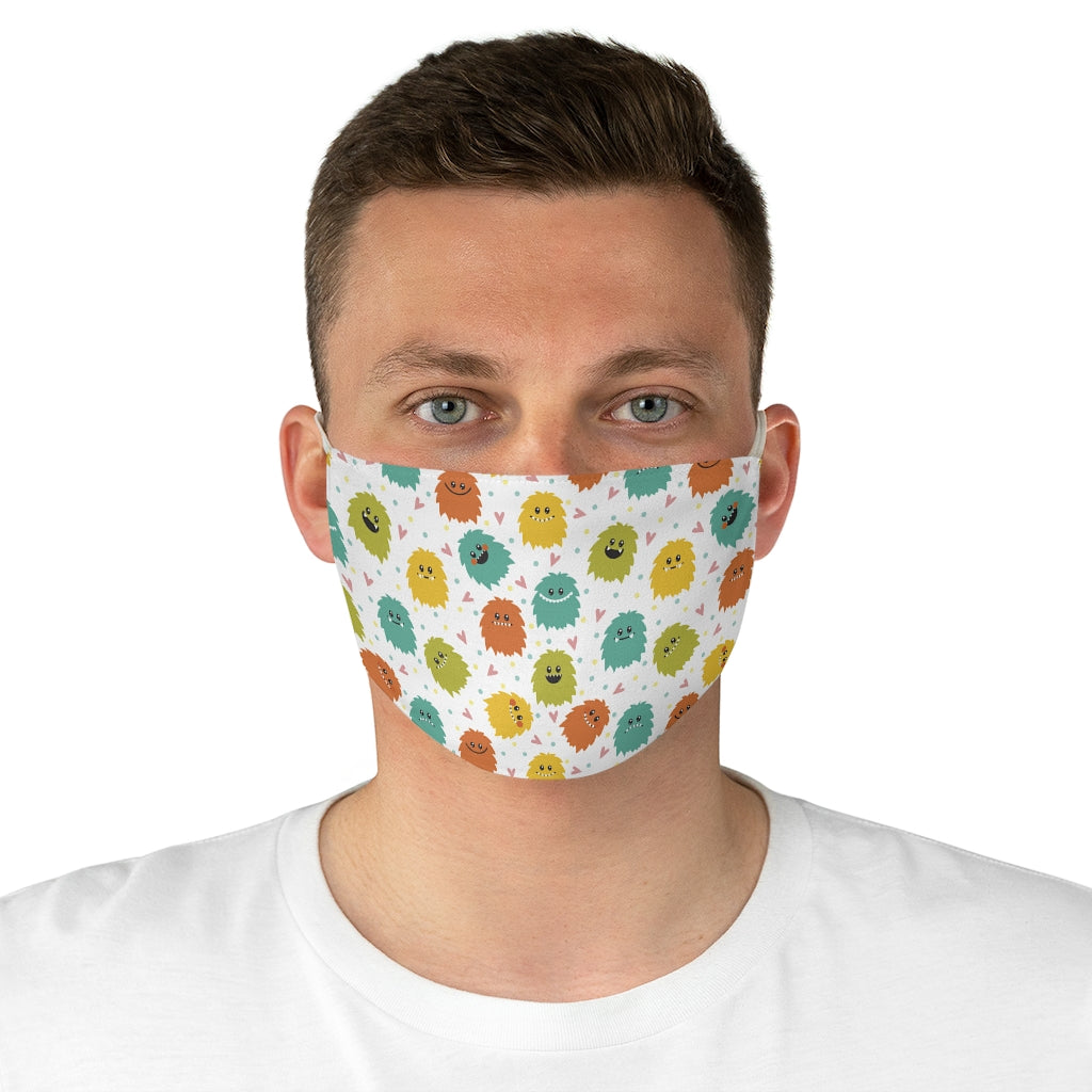 Cute Monsters Jersey Knit Face Mask