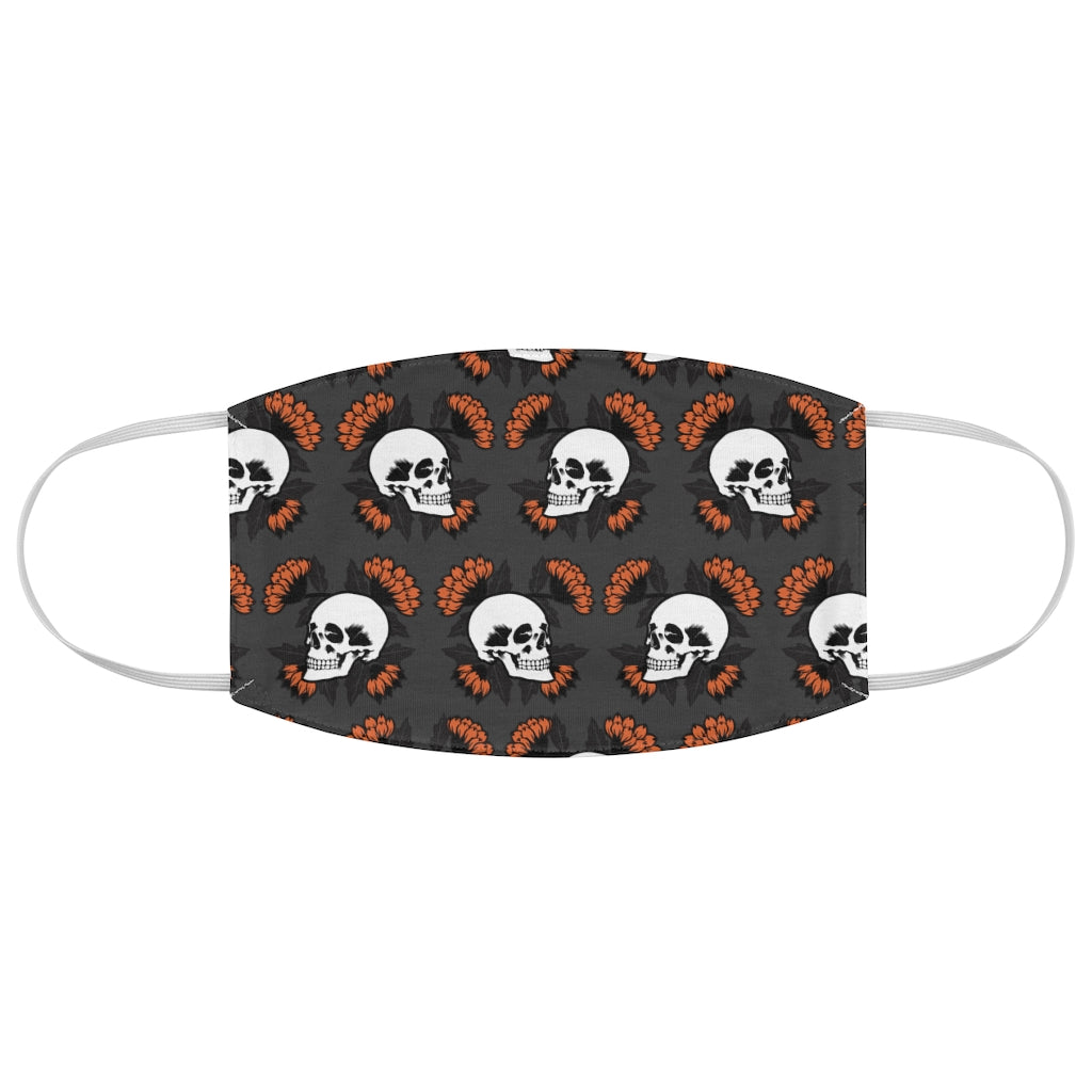 Skulls and Poppies Jersey Knit Face Mask