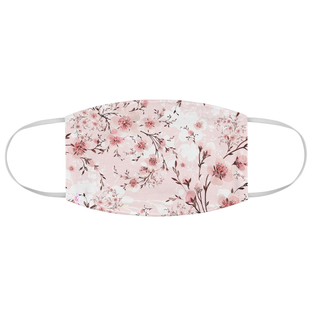 Cherry Blossom Floral Jersey Knit Face Mask