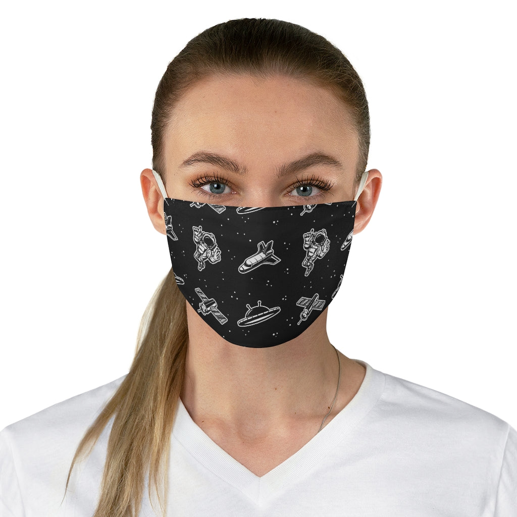 Astronauts in Space Jersey Knit Face Mask